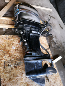 115 hp Mercury Outboard and controls