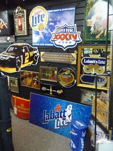 BEER SIGNS & COOL MAN CAVE STUFF at THE REC ROOM
