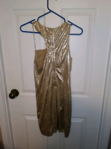 Guess dress, gold, size small