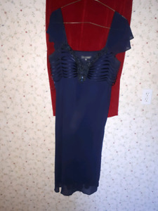 SOLD NEW Additionelle Size 18  formal navy blue dress