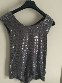 Silver backless top