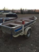14' Misty River boat and trailer with choice of motor