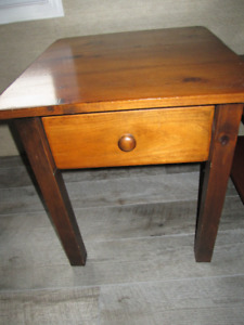 Rustic Pine End Table