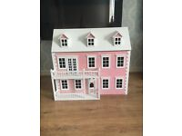 BRAND NEW Pink crystallised 3 story dolls house