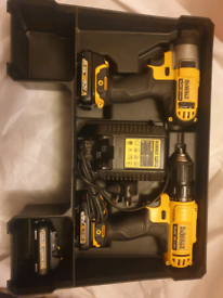 Dewalt 10.8V drill and impact driver with 3 X 1.5Ah batteries
