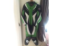 RST tractech evo motorcycle green leathers