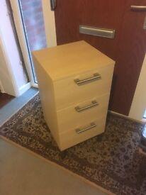 IKEA 3 drawer unit in beech