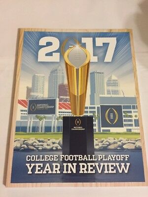 2017 College Football Playoff. Year In Review 70 + Pages .Bonus: Poster( Inside)