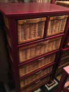4 Wicker dressers - will not separate/firm on the price