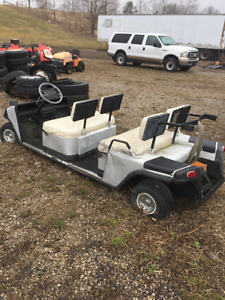 GOLF CART FOUR SEATER BIG LIMO, NEEDS SOME WORK ONLY 800$