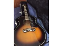 Epiphone EJ-200 Acoustic guitar with hard case