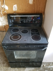 Working Whirlpool black stove oven range self cleaning