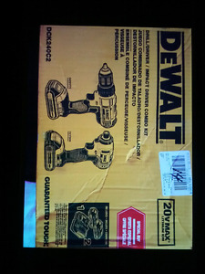 Never opened Dewalt Driver/Drill Impact/Driver Combo Kit $200