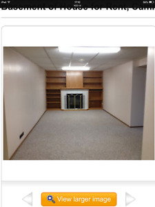 Basement of House for Rent, Camrose