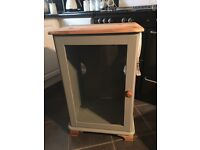 Shabby chic pine solid Cabient grey natural wood £30 b on a