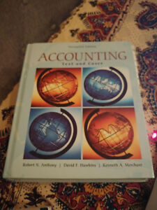 Accounting: Text and Cases (13th Edition) - Hard cover