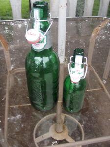 1.5 litre Grolsch Beer Bottles resealable ceramic top(swing top)