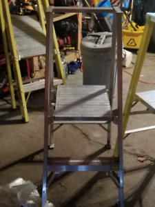 4 ft step ladders with platform.