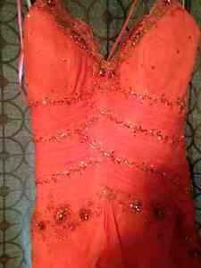 Prom Dress- Alyce Designs Coral Gown