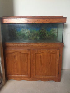 Aquarium with cabinet and pumps