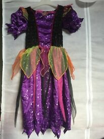 Halloween witches dress age 8-10