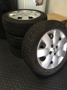 4 PNEUS HIVER -NORD FROST 100- 185/60R15 + 4 RIMS...WOW !!!
