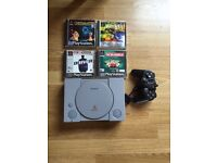 PlayStation 1 console,games, controller
