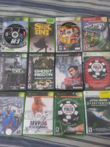 25 PS1, PS2, XBOX, GBA, 360 GAMES/JEUX
