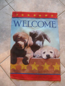ADORABLE HANGING DOUBLE-SIDED PUPPY WELCOME BANNER