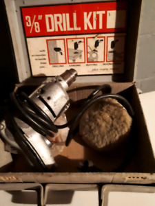 Vintage drill with buffer pads