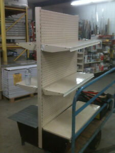 RETAIL METAL SHELVING, ASSORTED PIECES