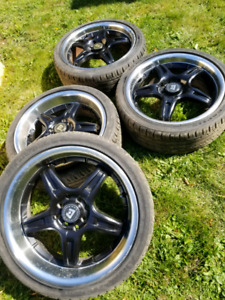 "4 bolt 17"" motegi rims"