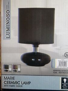 Marie Ceramic Lamp with Frabric Shade