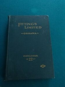 Vintage Oshawa-Historical Fittings Factory-Catalogue, Cast Iron