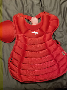 Baseball Catcher's Chest Protector and Shin Pads