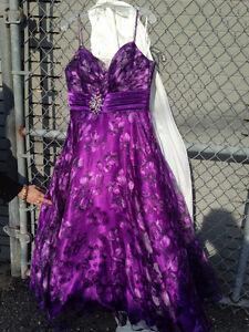 Gorgeous Purple Floral Evening Gown