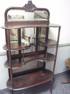 Antique Shelf with Mirrors