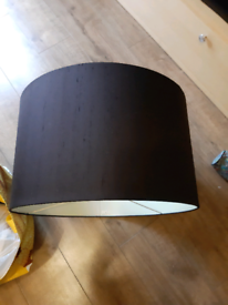 Habitat large chocolate drum shade