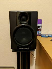 M-Audio Studio Speakers and Custom Built Stands