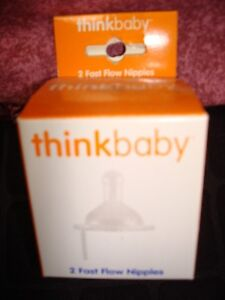 Think Baby 2pk Fast Flow Replacement Nipples NEW