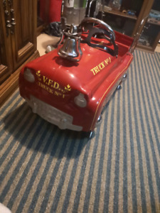 First edition red fire truck N.O1 antique pedal car