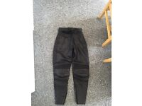 Leather bottoms motorbike motorcycle