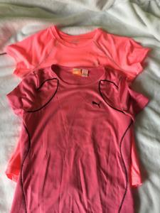 Girls Sport Shirts - Puma and Champion (Size Large)