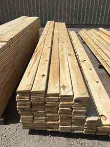 1x6 RED PINE V-Joint Tongue & Groove  -  OUTLET LUMBER
