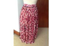 🎉Beautiful MANGO long pleated lined skirt small 30 waist