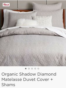 Brand New** West Elm king duvet cover & 2 king shams