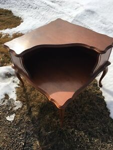 French provincial corner coffee table