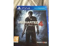 Uncharted 4 ps4 used once mint condition £25