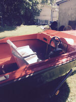 boat 14ft with trailer