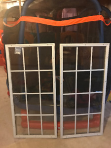 2 Entry Door Glass Window Inserts - 48x24 inches - (Like New)